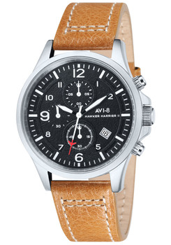 AVI-8 Hawker Harrier II Chrono Steel Black Tan (AV-4001-02)