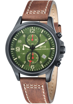 AVI-8 Hawker Harrier II Chrono Black Green (AV-4001-04)