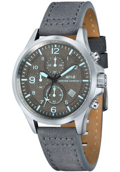 AVI-8 Hawker Harrier II Chrono Steel Grey Blue (AV-4001-07)