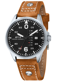 AVI-8 Hawker Harrier II Date Black Tan (AV-4003-02)