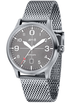 AVI-8 Flyboy Automatic Steel Grey Steel Mesh (AV-4021-22)