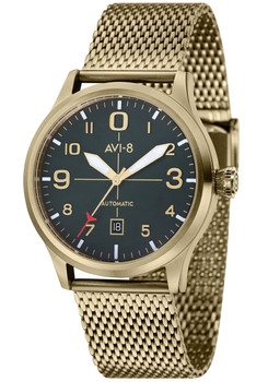 AVI-8 Flyboy Automatic Gold Mesh Deep Green (AV-4021-33)