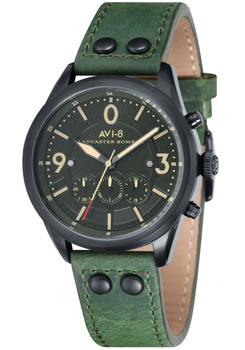 AVI-8 Lancaster Bomber Chrono Black Green (AV-4024-04)