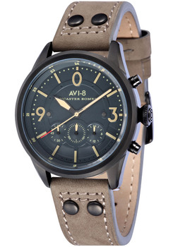 AVI-8 Lancaster Bomber Chrono Black Grey