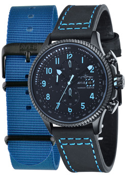 AVI-8 Hawker Hunter Chrono Black Blue