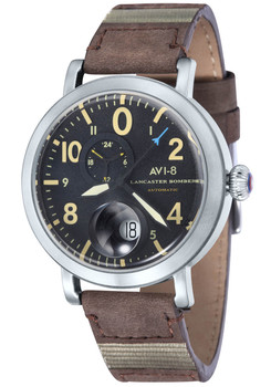 AVI-8 Lancaster Bomber Automatic Steel Brown