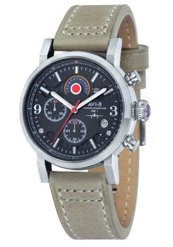 AVI-8 Hawker Hurricane Chrono Steel Stone