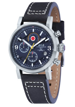 AVI-8 Hawker Hurricane Chrono Steel Black