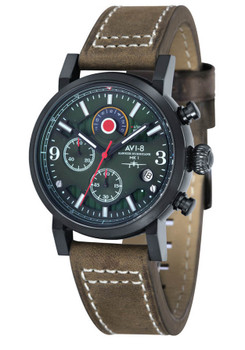 AVI-8 Hawker Hurricane Chrono Black Brown