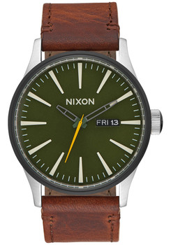 Nixon Sentry Leather Surplus Brown