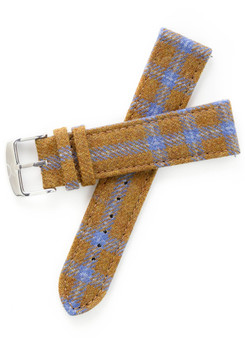 Xeric Savile Row 22mm Camel Blue Tartan