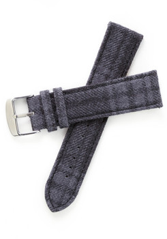 Xeric Savile Row 22mm Alpaca Charcoal Tartan