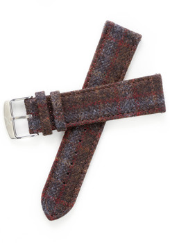 Xeric Savile Row 24mm Chestnut Red Tartan