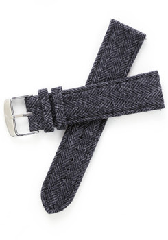 Xeric Savile Row 24mm Slate Herringbone