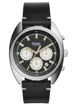 Fossil CH3043 Drifter Chronograph Black Leather