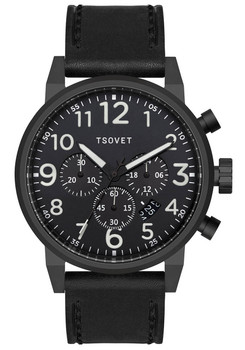 Tsovet JPT-TS44 Chrono All Black/Lume (TS331010-45)