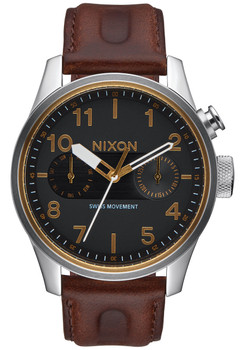 Nixon Safari Deluxe Leather Black/Brown (A977019)
