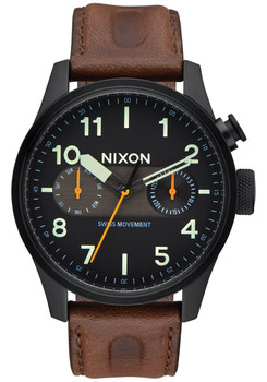 Nixon Safari Deluxe Leather Black/Lum/Brown (A9772344)