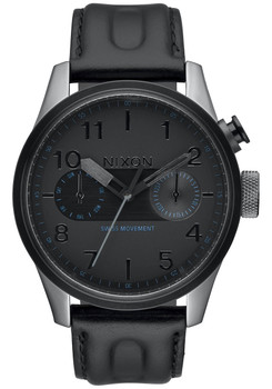 Nixon Safari Deluxe Leather All Gunmetal/Black (A977680)