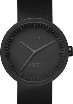 LEFF Amsterdam Tube Watch Leather D42 Black/Black (LT72011)