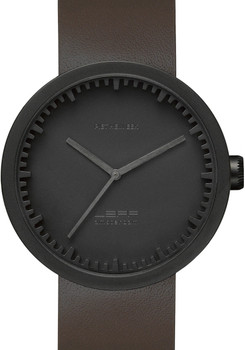 LEFF Amsterdam Tube Watch Leather D42 Black/Brown (LT72012)