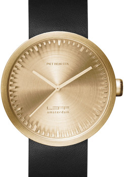 LEFF Amsterdam Tube Watch Leather D42 Brass/Black (LT72021)
