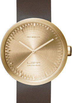 LEFF Amsterdam Tube Watch Leather D42 Brass/Brown (LT72022)