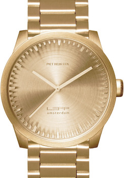 LEFF Amsterdam Tube Watch S42 All Brass (LT72103)