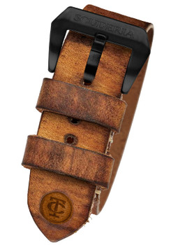 CT Scuderia Brown Leather Double Nato Strap (GS1433)