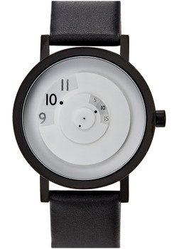 Projects Reveal White 40mm Leather Watch (7203WL-40)