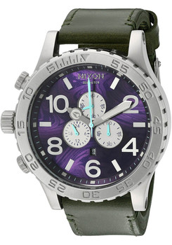 Nixon 51-30 Chrono Leather Purple Olive (A1242302)
