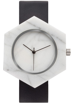 Analog Watch Co Hexagon Mason White Marble Black (SB-WX)