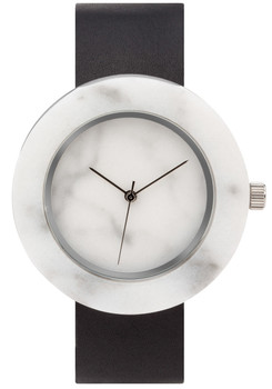 Analog Watch Co Circular Mason White Marble Black (SB-WO)