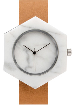 Analog Watch Co Hexagon Mason White Marble Tan (ST-WX)