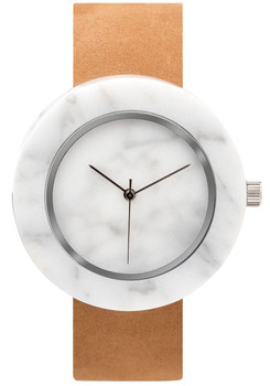 Analog Watch Co Circular Mason White Marble Tan (ST-WO)
