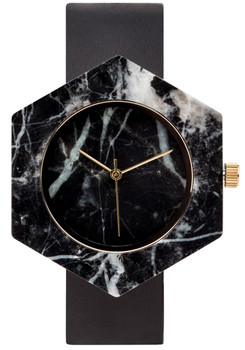 Analog Watch Co Hexagon Mason Black Marble Black (GB-BX)