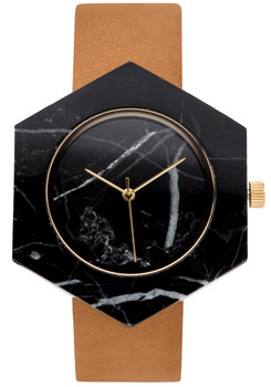 Analog Watch Co Hexagon Mason Black Marble Tan (GT-BX)