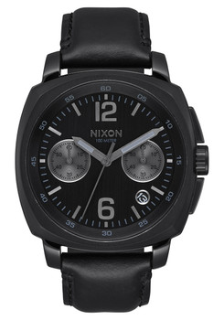 Nixon Charger Chrono Leather All Black (A1073001)