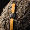 Nixon Sentry Leather All Black Goldenrod (A1052448)