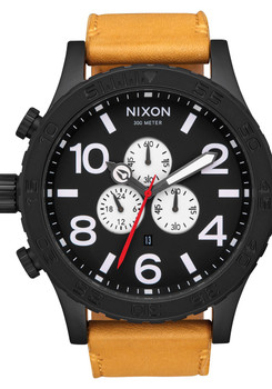 Nixon 51-30 Chrono Leather All Black Goldenrod (A1242448)