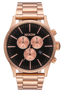 Nixon Sentry Chrono All Rose Gold Black (A3861932)