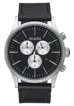 Nixon Sentry Chrono Leather Black (A405000)