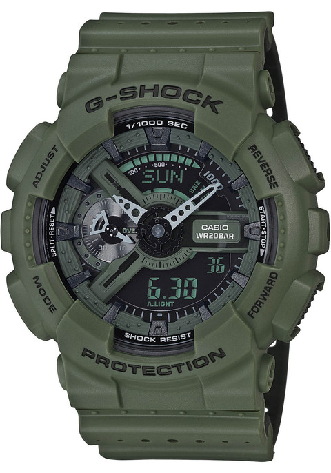 G-Shock Miltary Perforated Band Olive Black (GA-110LP-3A)