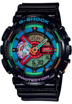G Shock GA-110 Crazy Color Series Black