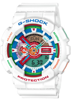 G Shock GA-110 Crazy Color Series White (GA-110MC-7A)