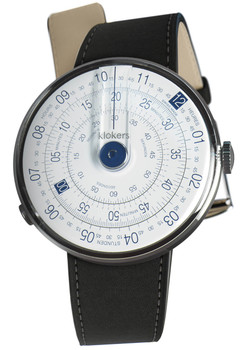 Klokers Klok-01-D4 Blue Matte Black Leather (KLOK-01-D4-KLINK-01-MC2)
