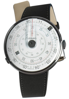Klokers Klok-01-D2 Grey Matte Black Leather (KLOK-01-D2-KLINK-01-MC2)