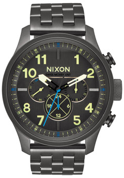 Nixon Safari Dual Time All Gunmetal Lum (A10811418)