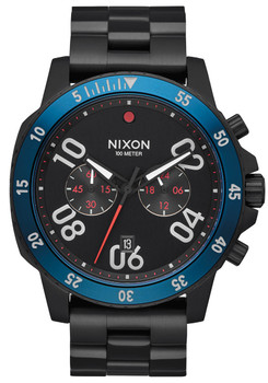 Nixon Ranger Chrono All Black Blue (A549602)