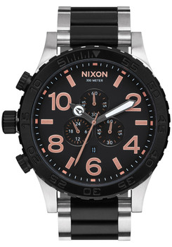Nixon 51-30 Chrono Black Rose Gold (A0832051)